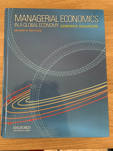 Managerial Economics in a Global Economy, Dominick…