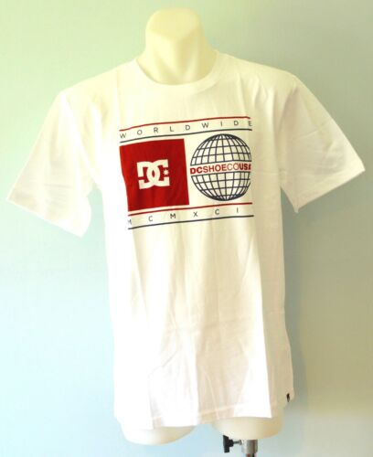SIZES 14 /& 16 YEARS WHITE NEW DC Shoes Boys Printed T Shirt 10