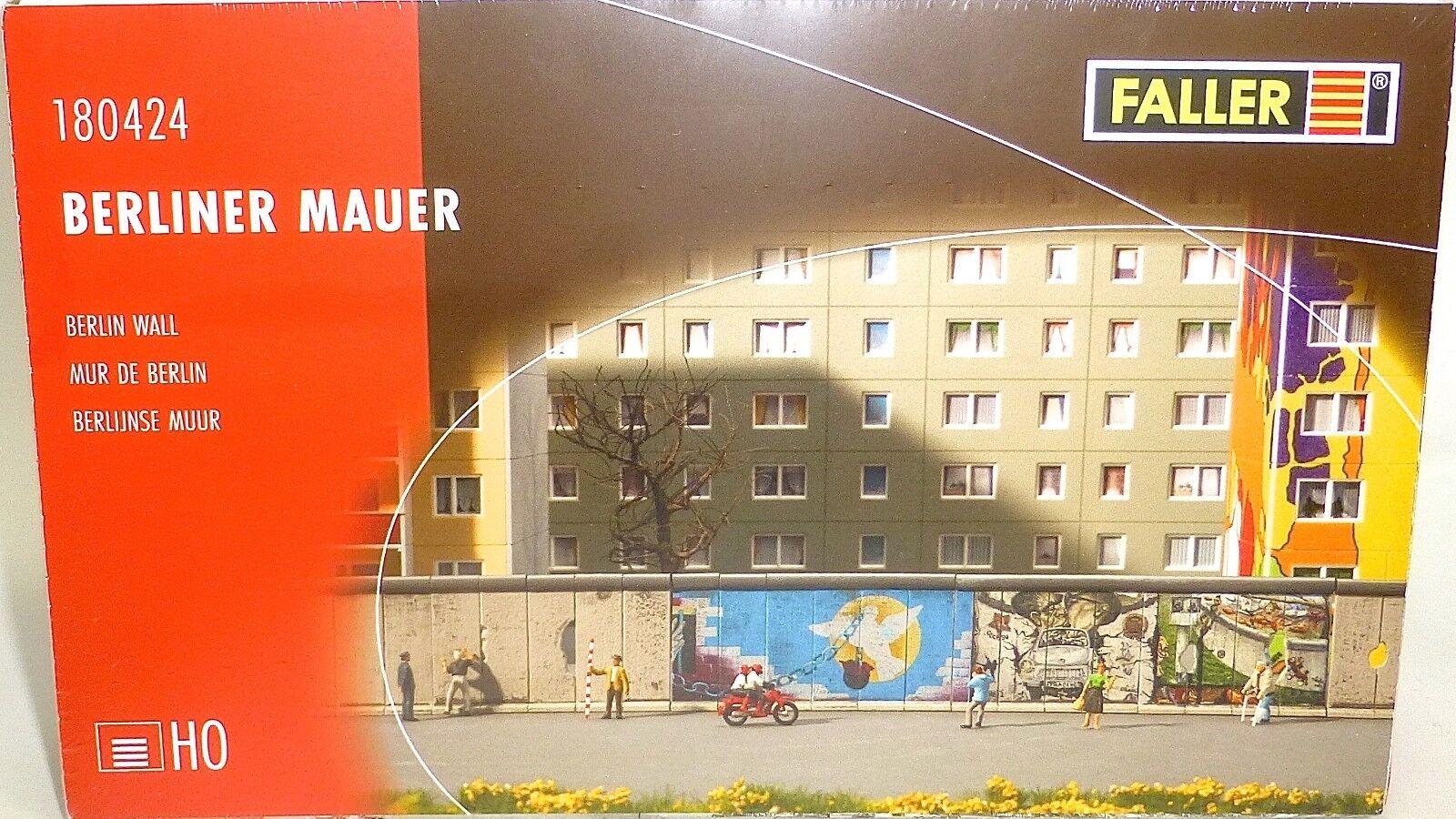 Berliner mauer Berlin Wall bausatz 220x24x43mm Faller 180424 H0 1 87 ovp UB1 µ