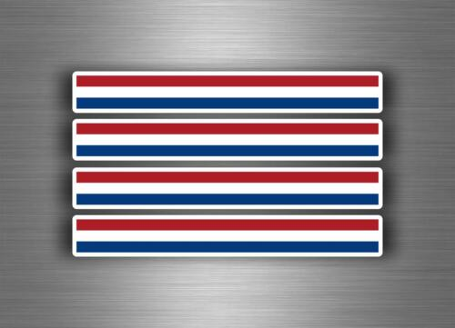 4x Autocollant sticker voiture moto stripes drapeau tuning pays bas hollande