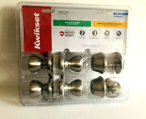 Kwikset Combo Pack Free Shipping 2 Smart key Deadbolts//2 Tylo Passage Locksets