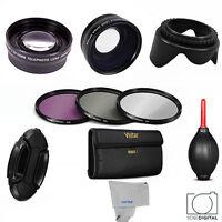 Wide Angle+macro+telephoto Lens +filter Kit +bonus For Canon Canon Xa-10 Xa10