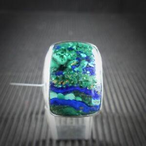 925 Silber Beste Preis Garantie Top Design !! Ring mit Malachit Unikat
