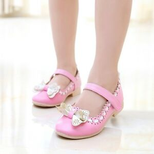 Kids-Girls-Princess-Bow-Party-Shoes-Child-Infant-PU-Flower-Flats-Sandals-5