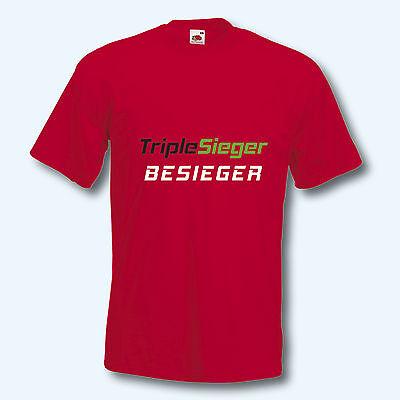 T-Shirt, Fun-Shirt, Triple Sieger Besieger, FC Augsburg, 8 Farben, S-XXXL
