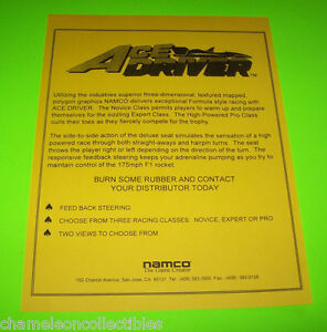 Collectibles Arcade, Jukeboxes & Pinball Smart 1996 Namco Alpine Racer 2 Jp Video Flyer