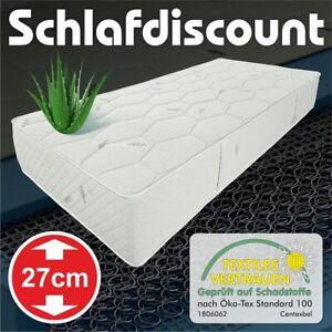 orthopädische Federkern Matratze Smaragd Boxspringbett-Höhe 27cm Aloe Vera Bezug