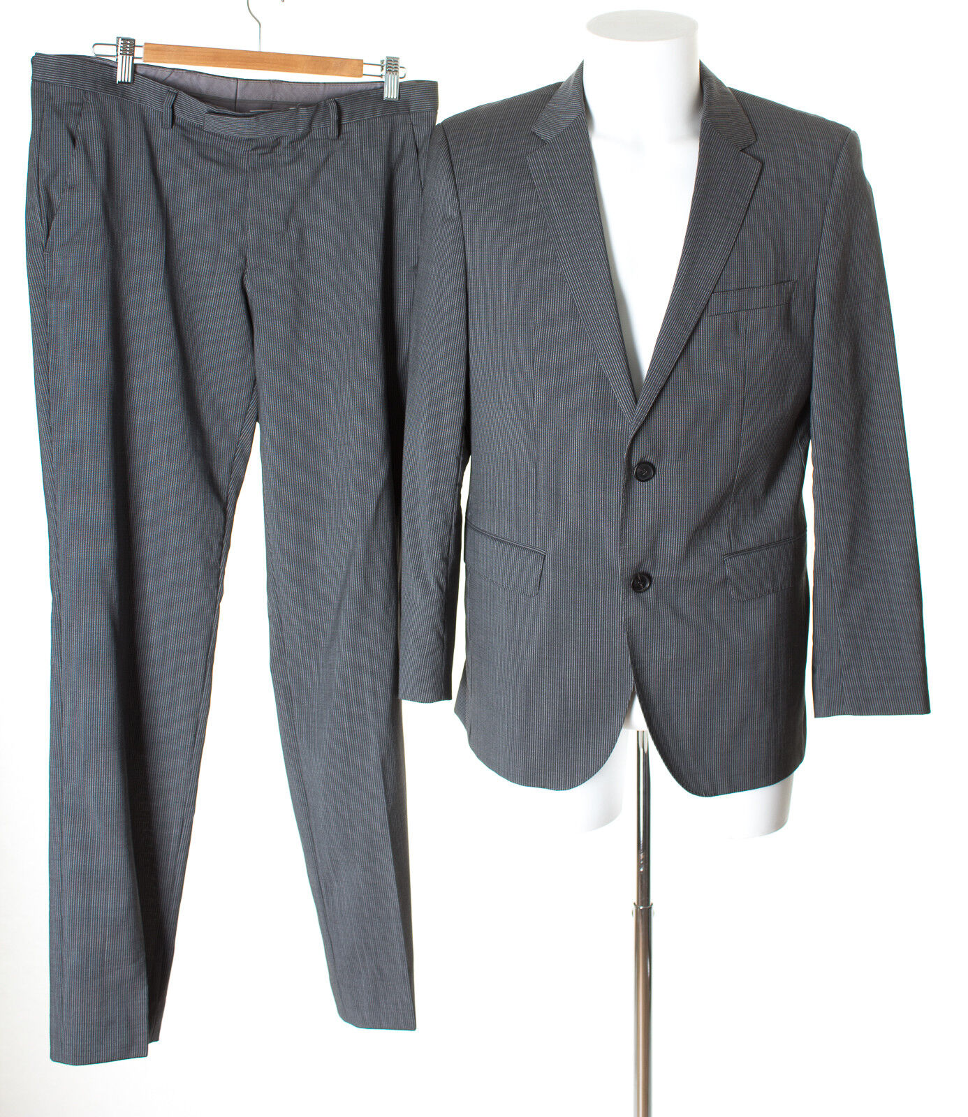 HUGO BOSS Herren Anzug Super 100´S Gr. 50 The James4/Sharp6