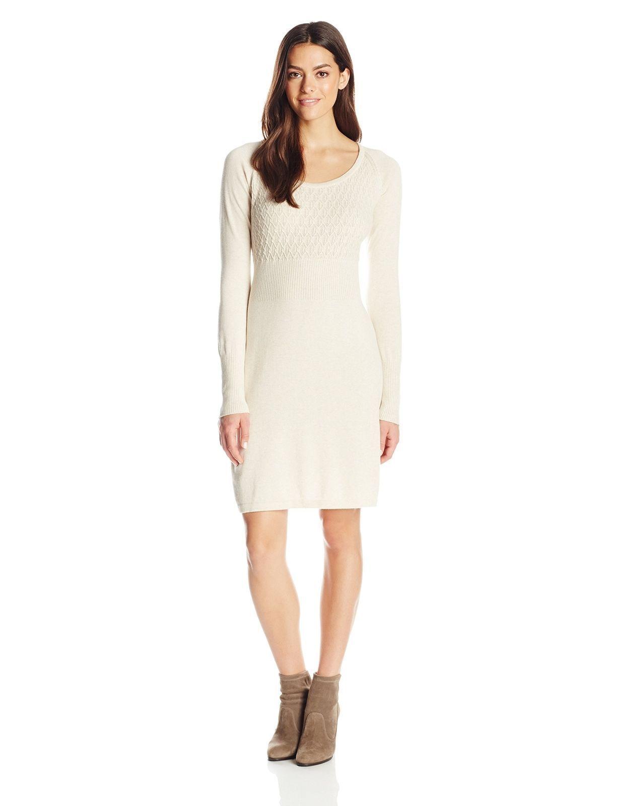 NWT  prAna Woherren Zora Dress Winter  TAN XS X-SMALL