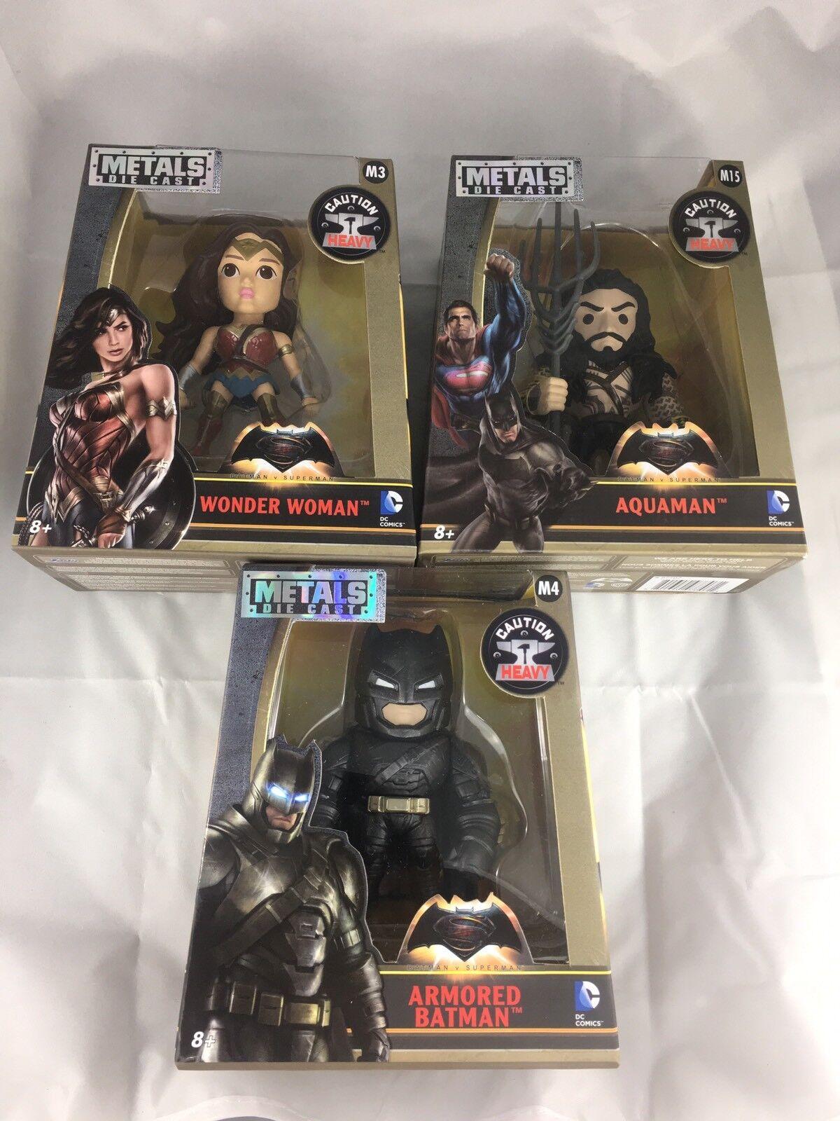 (Lot Of 3) NIB DC Comics   Warner Bros Metals Die Cast Batman V Superman 2015