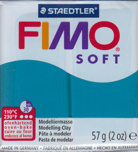 FIMO SOFT Panetto 57 gr Pasta Modellabile 28 COLORI BASE *Spedizione Tracciata*