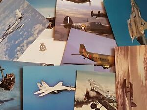 NEW-Pack-of-10-Aircraft-Postcards-Ideal-for-Postcrossing-all-different