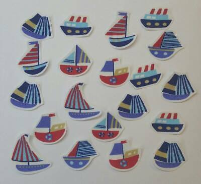 Set of iron on fabric motifs for crafting//sewing Nautical beach huts /& seaside