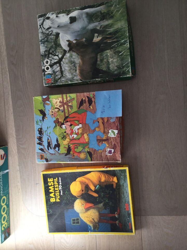 4 puslespil til børn, puslespil