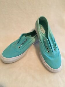 EUC Used VANS Off The Wall Ombre Green Ladies 7.5 Mens 6 Skateboard  Shoes