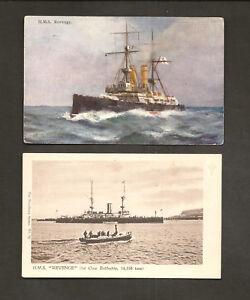 Details about 2 POSTCARDS: HMS REVENGE - BRITISH ROYAL NAVY Pre-DREADNOUGHT  BATTLESHIP