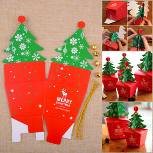 5pcs Christmas Candy Gifts Apple Box Cupcakes Dessert Cookies Xmas