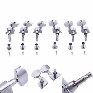 electric guitar tuning pegs tuners keys machine heads for acoustic parts 3r3l ebay. Black Bedroom Furniture Sets. Home Design Ideas