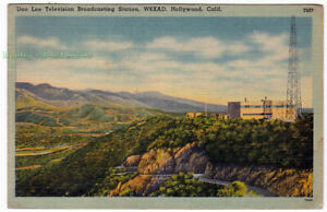 DON-LEE-TV-BROADCASTING-STATION-Hollywood-CALIFORNIA-1944-POSTCARD-W6XAD
