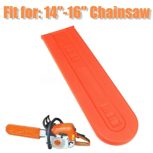 Saw Chainsaw Bar Cover Protect For Stihl Husqvarna Chain Orange Guard 14-16inch