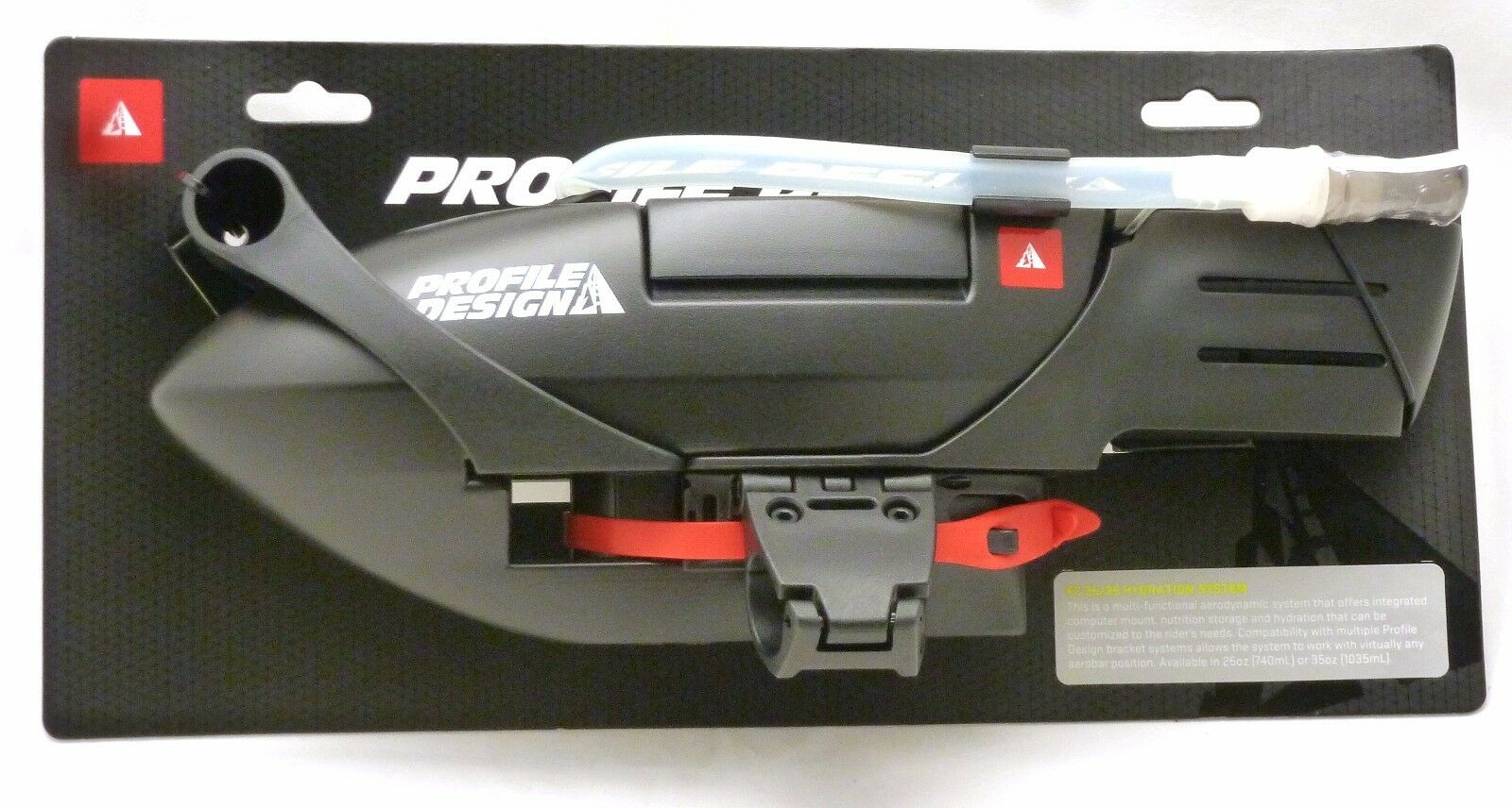 Profile Design FC25 Aero Sistema de Hidratación Negro con válvula de mordida