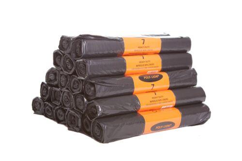 Noir heavy duty wheelie sacs poubelle liners rouleaux de sacs poubelle uk made fort grand