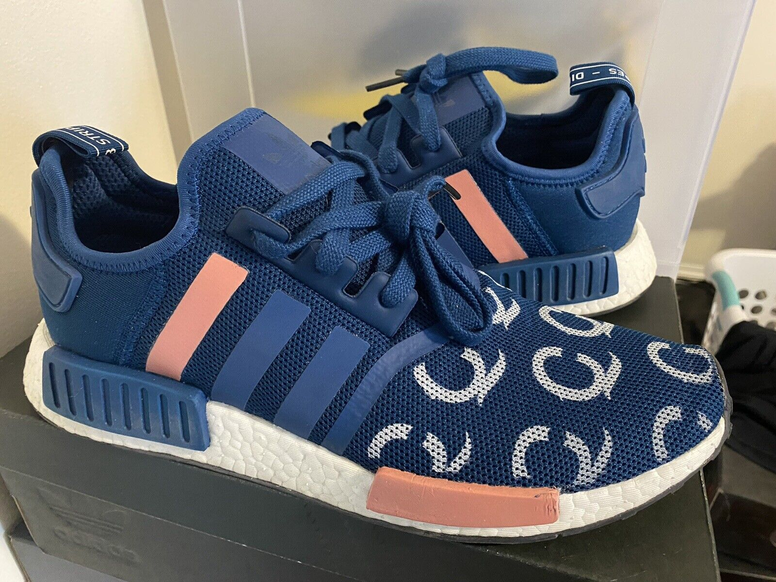 adidas NMD R1 Blue Night Men Size 11 BY3016 - Gem