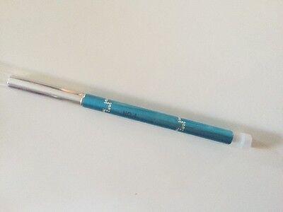 Gel-Pinsel Gr.4 mit Kappe Strass-Steinen Türkis-Optik