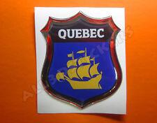 3D Emblem Sticker Resin Domed Flag Quebec City - Adhesive Decal Vinyl