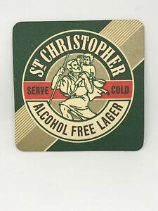 Vintage-St-Christopher-Alcohol-Free-Lager-Beer-Coaster-Bar-Decoration-Man-Cave