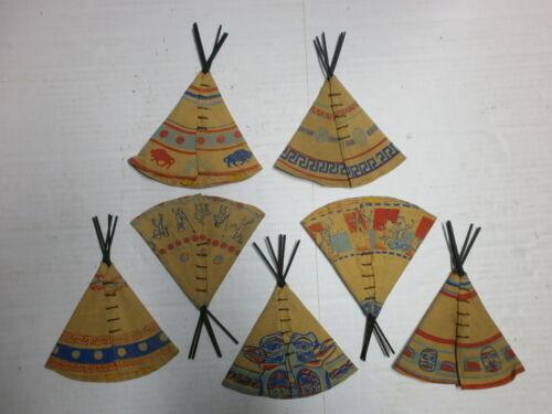 Convolute 7 Old Indianerzelte Für 1 5//8in Merten Plastic Wild West