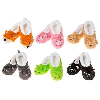 Kids Snoozies Chaussons Super Douce En Polaire Chaude /& confortable style animal à fourrure C Multi