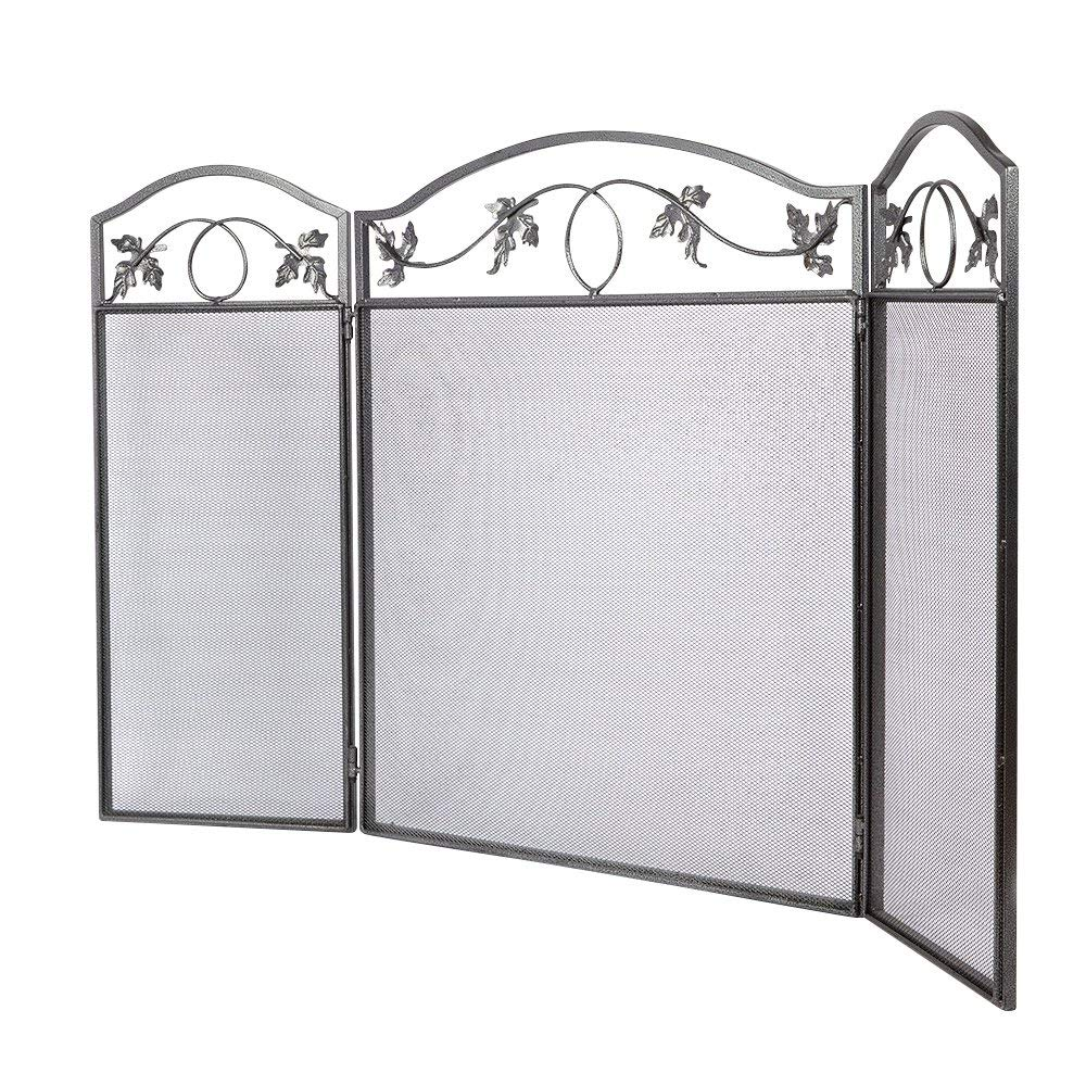 Fireplace Outdoor Leaf Fence 3 Pewter Wrought