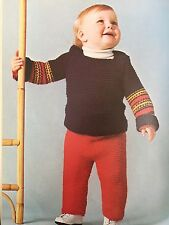 Ck3 - Knitting Pattern for Children's Jumper & Matching Leggings Toddler / Baby