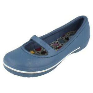 348297c2b07671 Image is loading Crocs-crocband-winter-flat-bijou-blue-Slip-On-