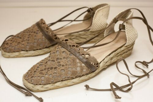 Stuart Weitzman US 7.5 Brown Sandals Espadrilles