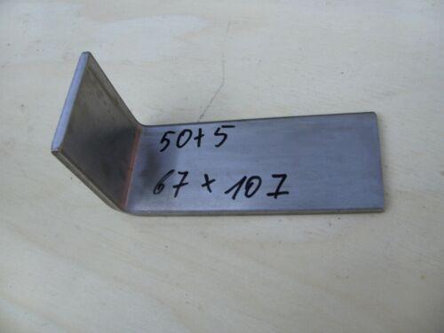 Edelstahl-Winkelverbinder V2A L-Winkel Schenkelmaß 67mm x 107mm x 50 x 5 mm