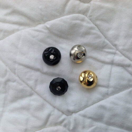 15mm//23mm black//silver//gold colours 15mm//23mm Buttons single diamante effect