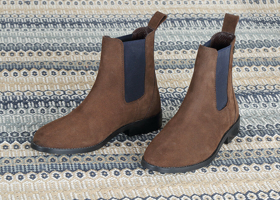 Shires Moretta Antonia Suede Chelsea Boots  Sizes 4, 5, 6, 7  Cushioned Insole