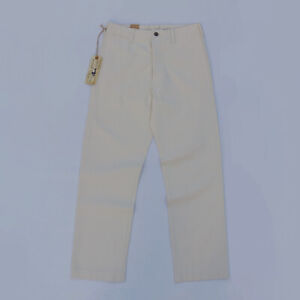 BOB-DONG-Cream-White-HBT-Officer-Casual-Pants-Military-Style-Trousers-Loose-Fit