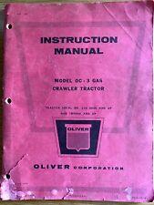 1959 Oliver Crawler Tractor Vintage Instruction Manuel Model Oc 3 Gasoline Rare