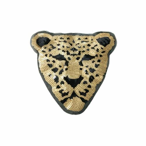 Embroidery Applique Patch Sew Iron Badge Sequin Leopard XL Sew On