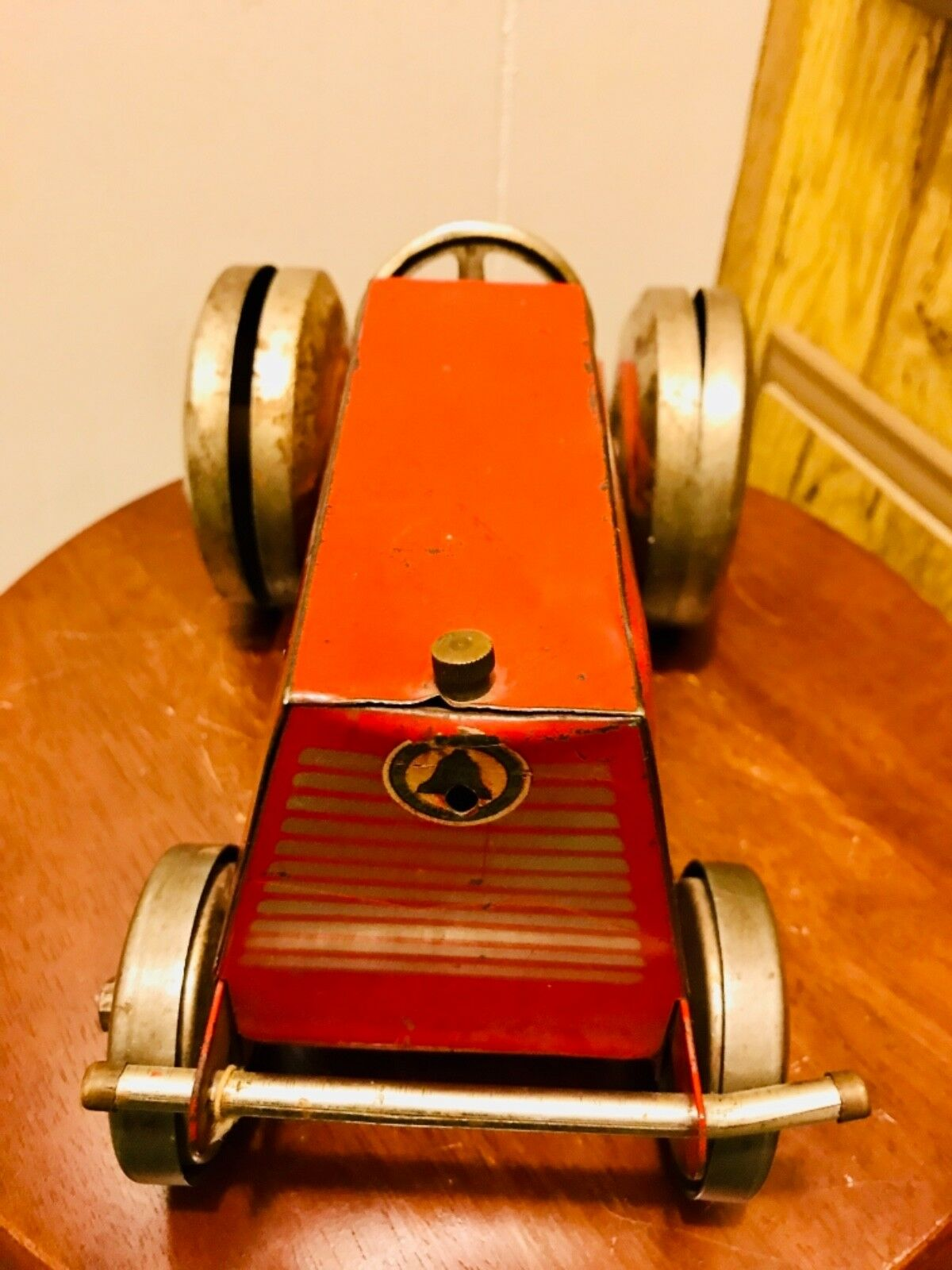 Estate Fresh Vintage 1930's Gong Bell Tractor W Jingling Wheels