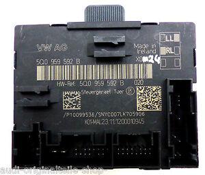 AUDI-A3-8v-S3-Unidad-de-control-la-Puerta-5q0959592b-delante-Derecho-COPILOTO