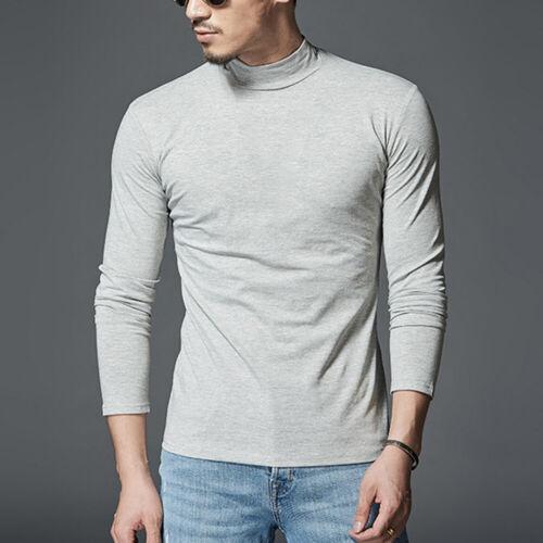 Mode Männer Pullover Top Warmes T-Shirt Rollkragen Unterhemd Langarm Slim Fit