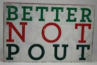 Wooden Word Block 'better Not Pout' By About Face Hang / Set