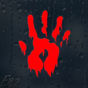 Zombie-Bloody-Hand-Print-Car-Decal-Vinyl-Sticker