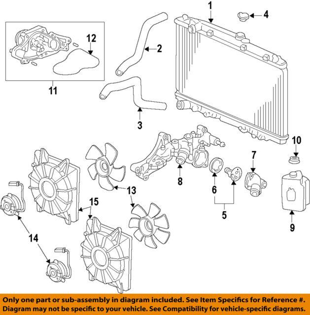 Acura HONDA OEM 13-18 RDX-Radiator 19010R8AA51