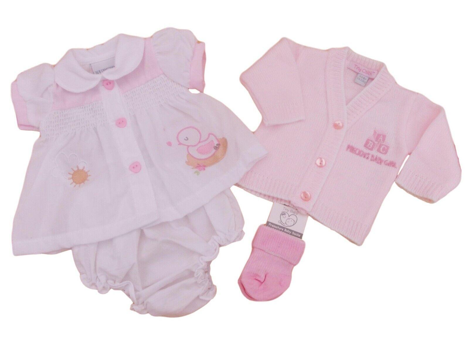 BNWT Tiny Premature Preemie Baby Girl Little teacup summer dress 3-5lb /& 5-8lb
