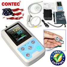 Portable Ambulatory blood pressure monitor SPO2 Probe 24 Hours Record+software